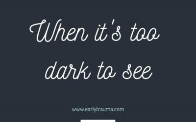 When it's too dark to see